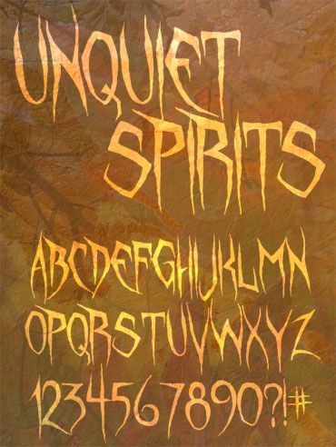 Unquiet Spirits Font | FUN PICTURE FX APPS | Halloween fonts
