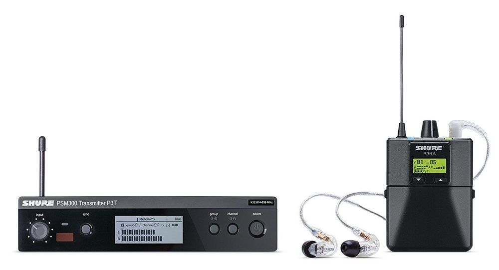 Shure Psm300 Wireless In Ear Stereo Personal Monitor System P3tra215cl J13 In Ear Monitors Wireless System Wireless