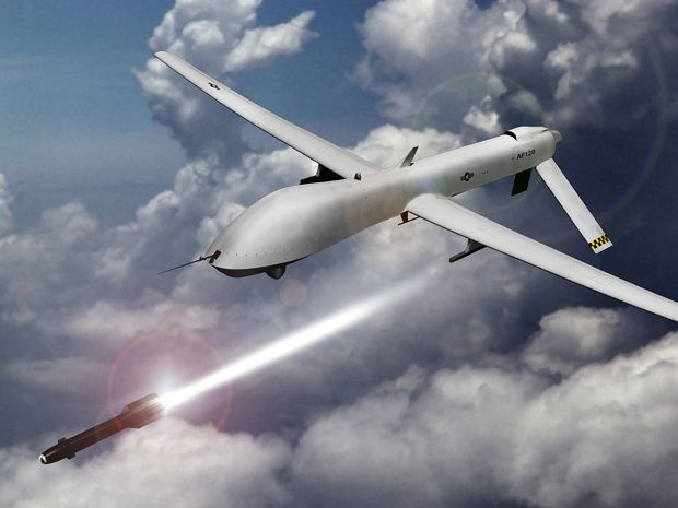 General Atomics MQ 1 Predator Drone Can Carry And Fire Two Hellfire Missiles Used