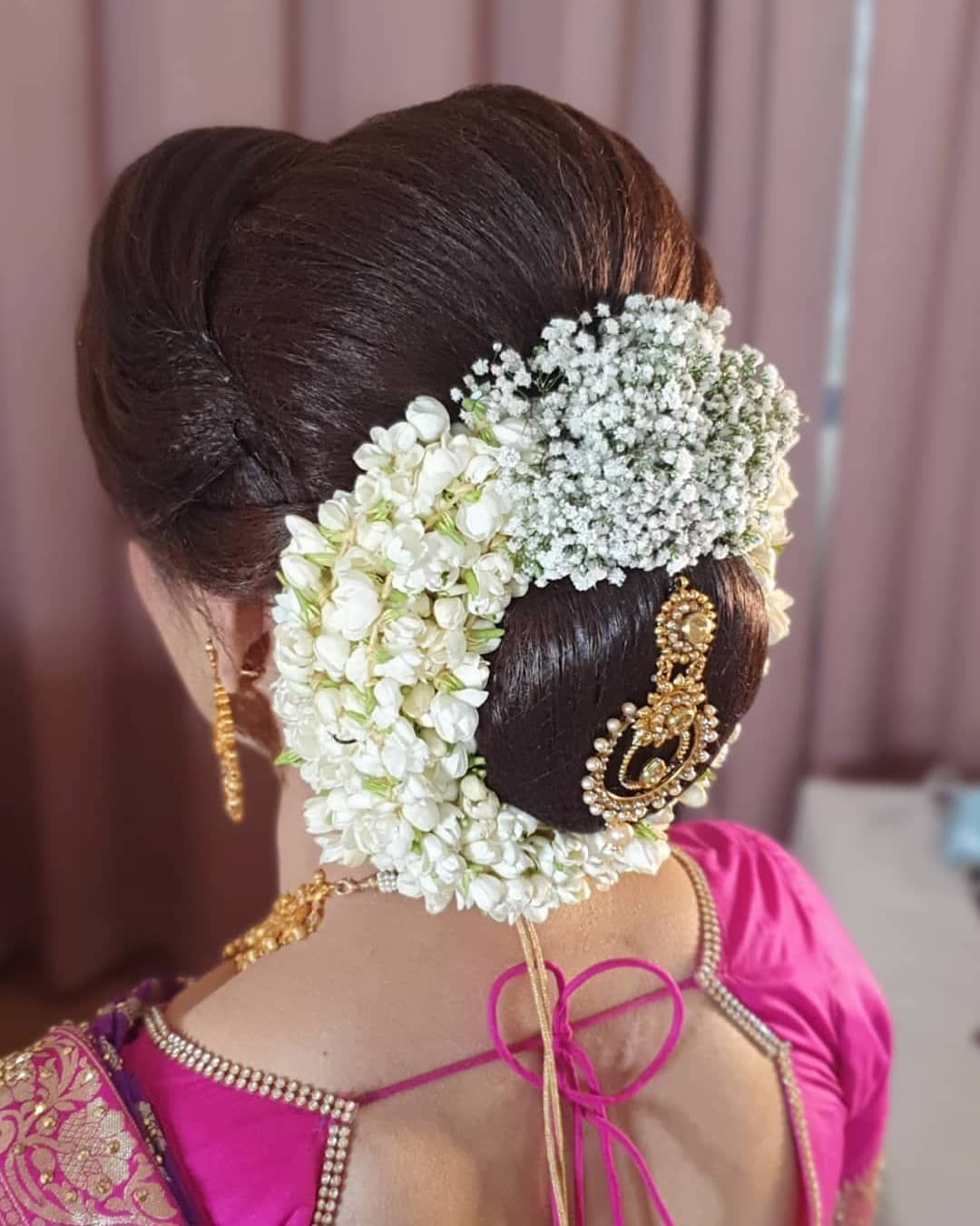 Wedding Kondai Hairstyle: C L A S S I C 💗 . Book Us For Your Big Day 😊😊😊Whatsapp Now