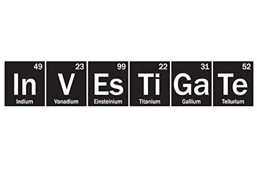 yingkai investigate science periodic table elements vinyl wall art decal living room home schools offices vinyl - Living Periodic Table Activity