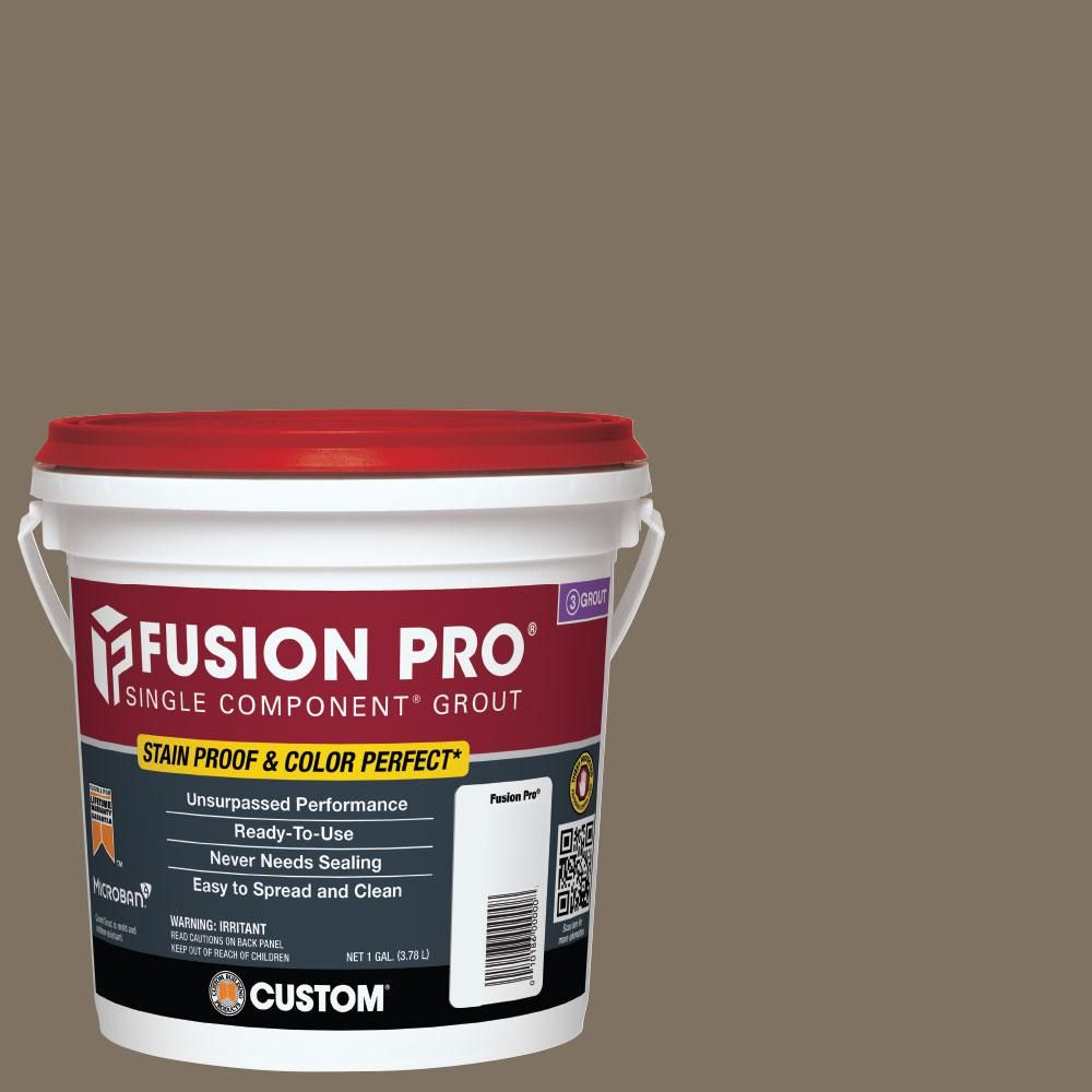 Custom Building Products Fusion Pro 544 Rolling Fog 1 Gal Single Component Grout Fp5441 2t Bleached Wood Grout Porcelain Flooring
