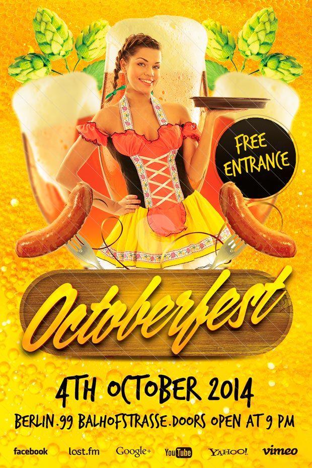 Octoberfest Free Flyer Template  HttpWwwFreepsdflyerCom