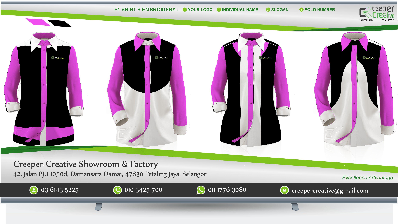 Embroidered Custom Wasap Fadzil 0103425700 Corporate Shirts Custom Uniform Dress Shirts For Women