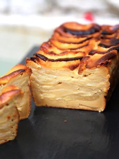 gâteau invisible aux pommes et au caramel au beurre salé | gâteaux