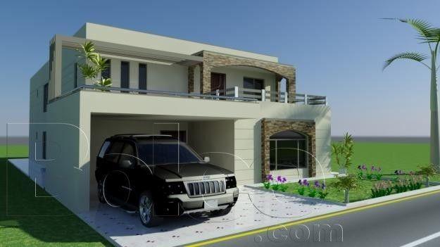 3D Front Elevation.com: 8 Marla House Plan-Layout-Elevation ...