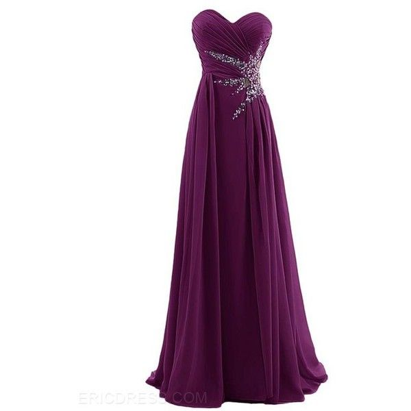 Ericdress Impressive Sweetheart Ruched Beaded Long Prom Dress ($107 ...