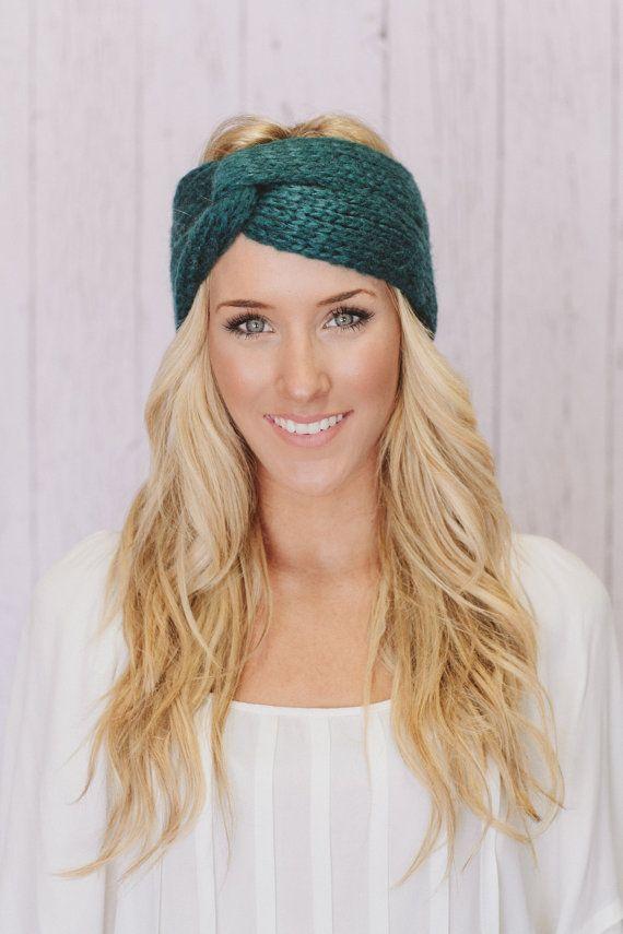Knitted Headband Twist Turban Cozy Turband Womens Fall Accessory