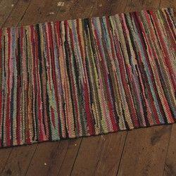 Medium Multi Coloured Rag Rug Rag Rug Rugs Vintage Bohemian Style