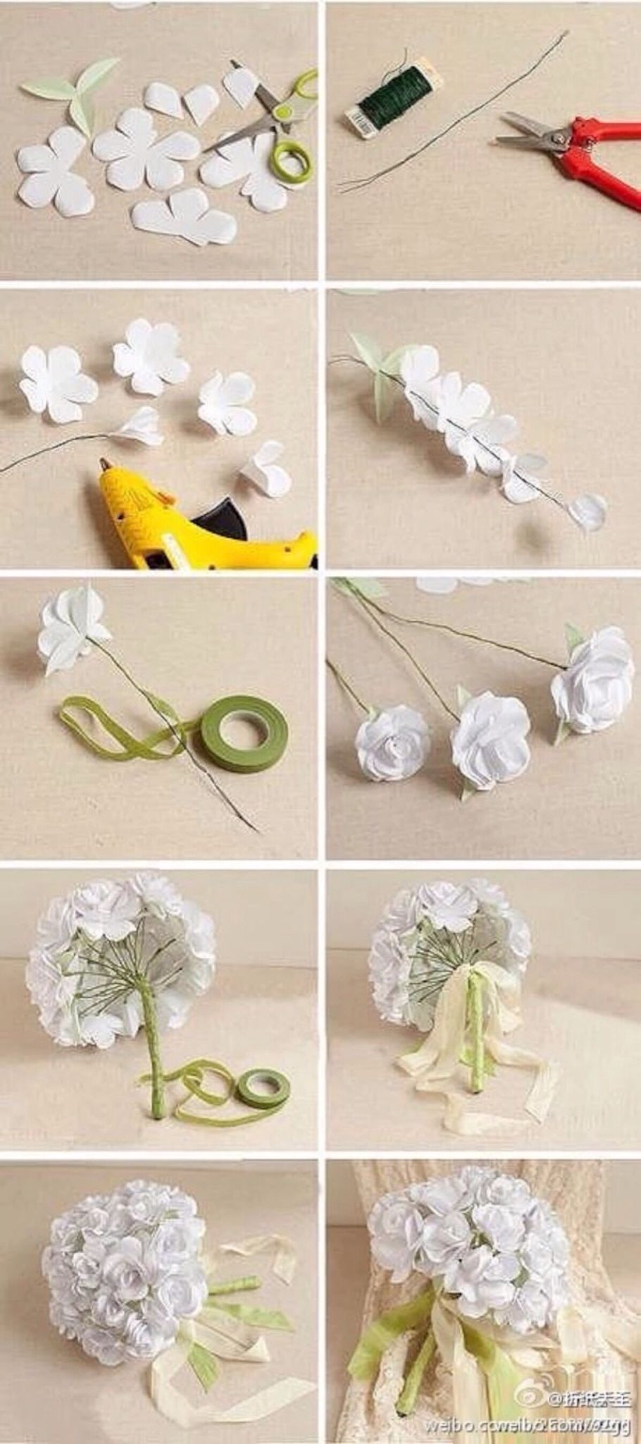 Flowers Diy Crafty Pinterest Flowers Craft And Flower