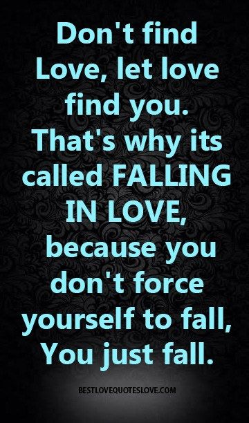 Why is it called falling in love