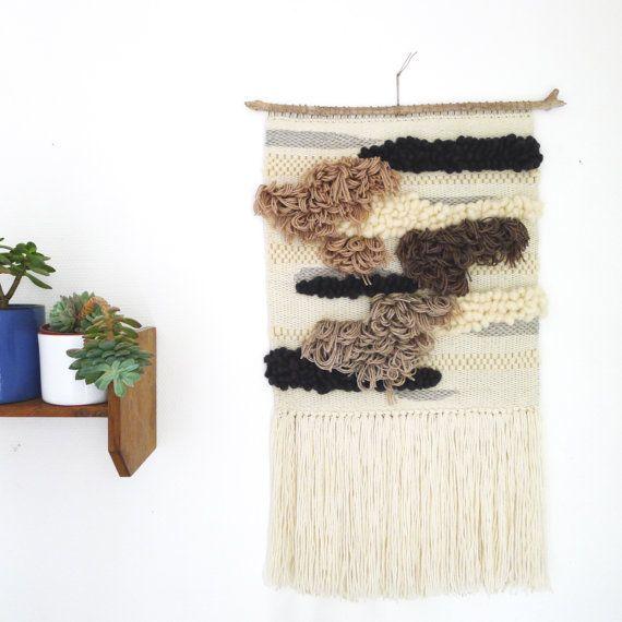 Totem - Grand Tissage contemporain - Tissé à la main - Tissage murale - Big woven wall hanging - Tapestry weaving Fiber Art