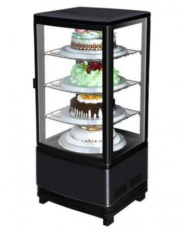 Marchia Mdc78b Black Refrigerated Countertop Bakery Display Case