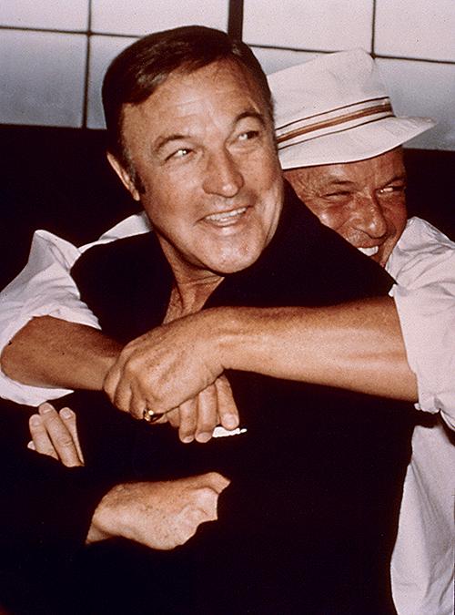 Frank Sinatra embraces longtime friend and co-star Gene ...