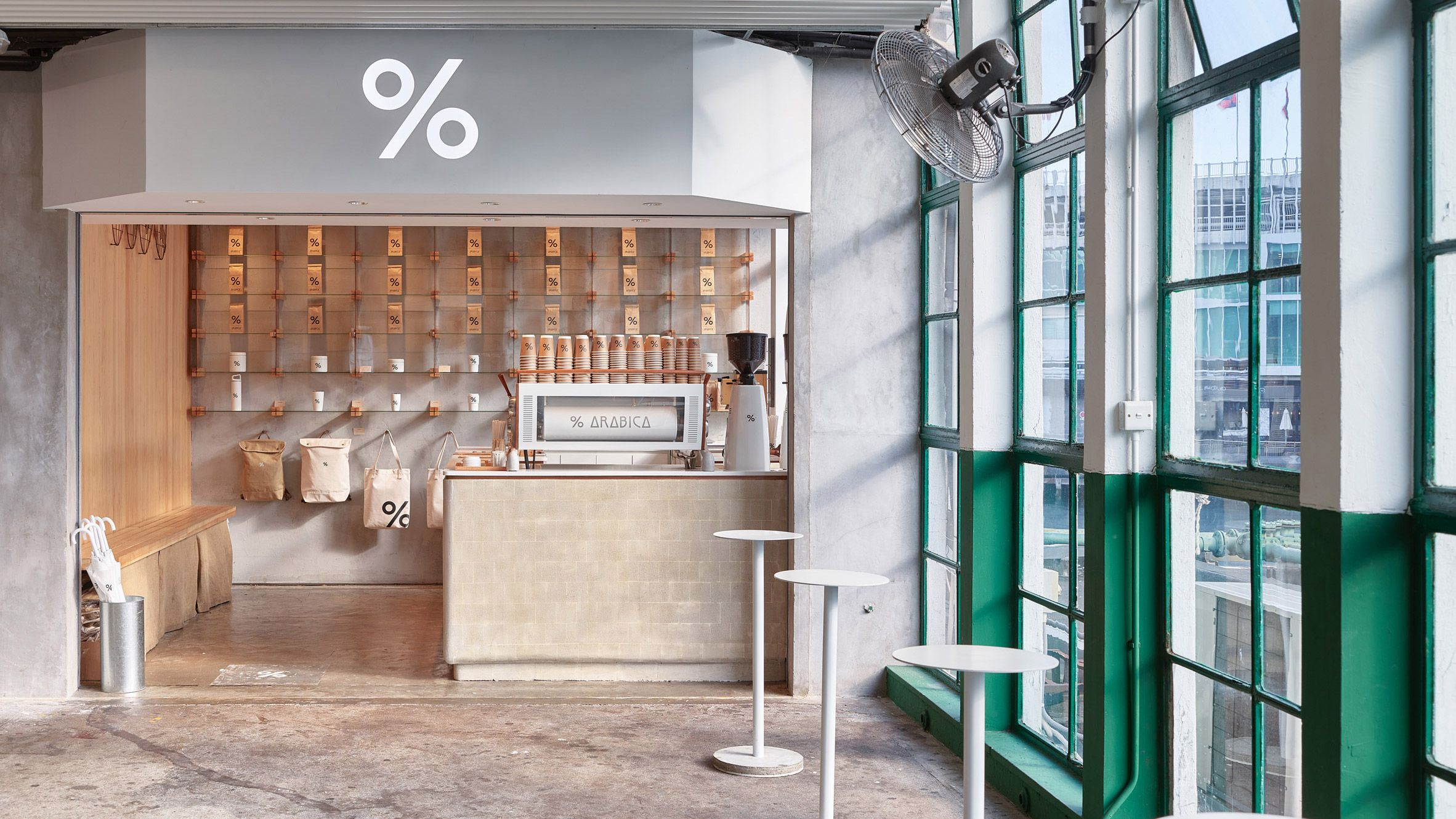 Puddle Has Designed A Coffee Shop Inside A Ferry Terminal Building
