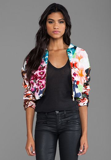 a391fee03a Shakuhachi Flower Bomb Embroidered Bomber in Floral Splice | My ...