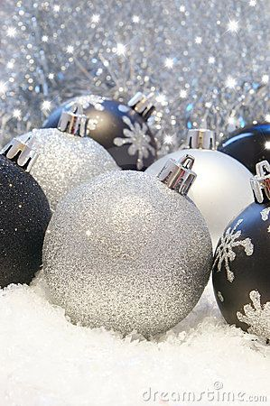 black and silver christmas decorations - Black And Silver Christmas Decorations