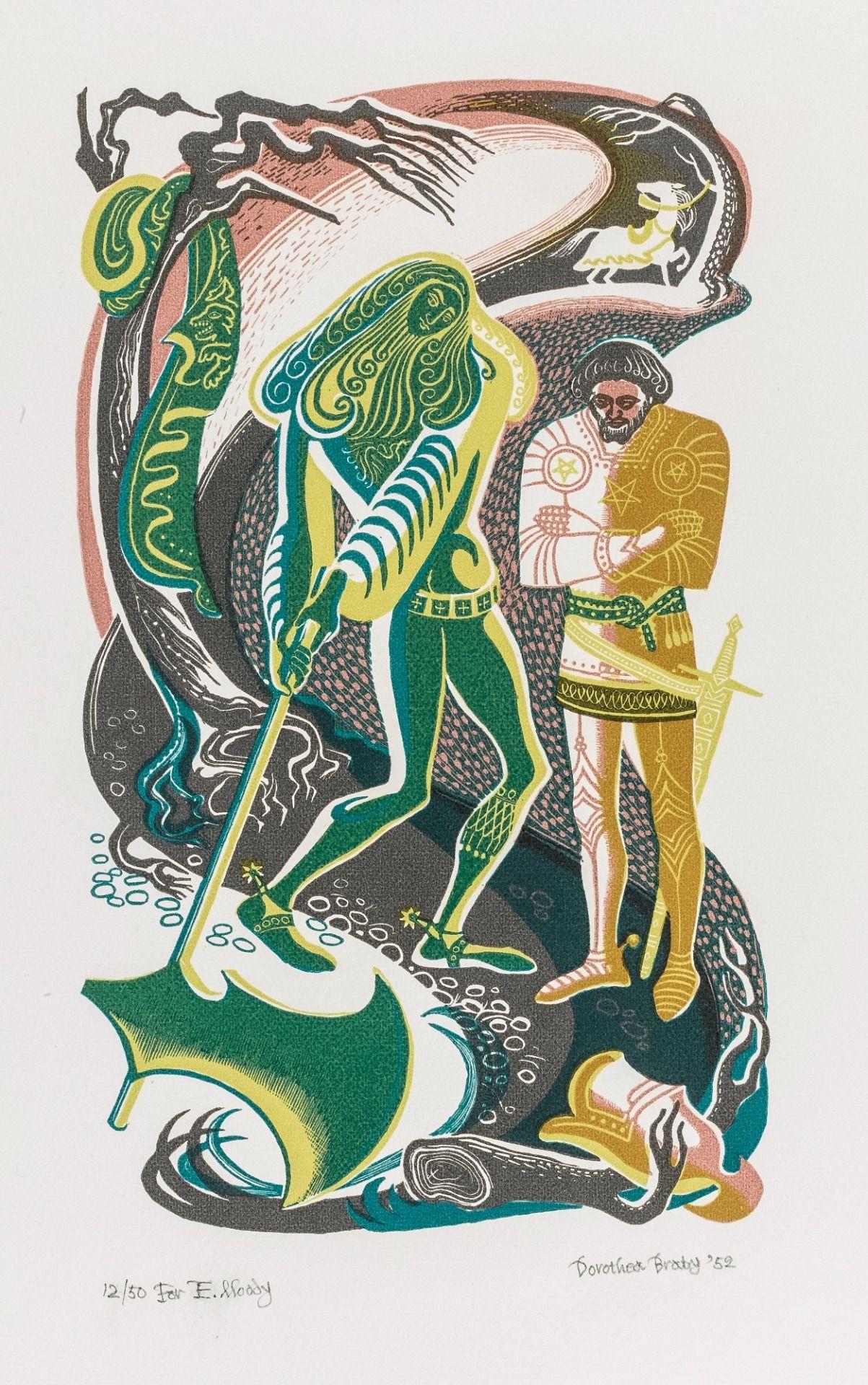 d881e943 Illustration by Dorothea Braby for Gwyn Jones' translation of