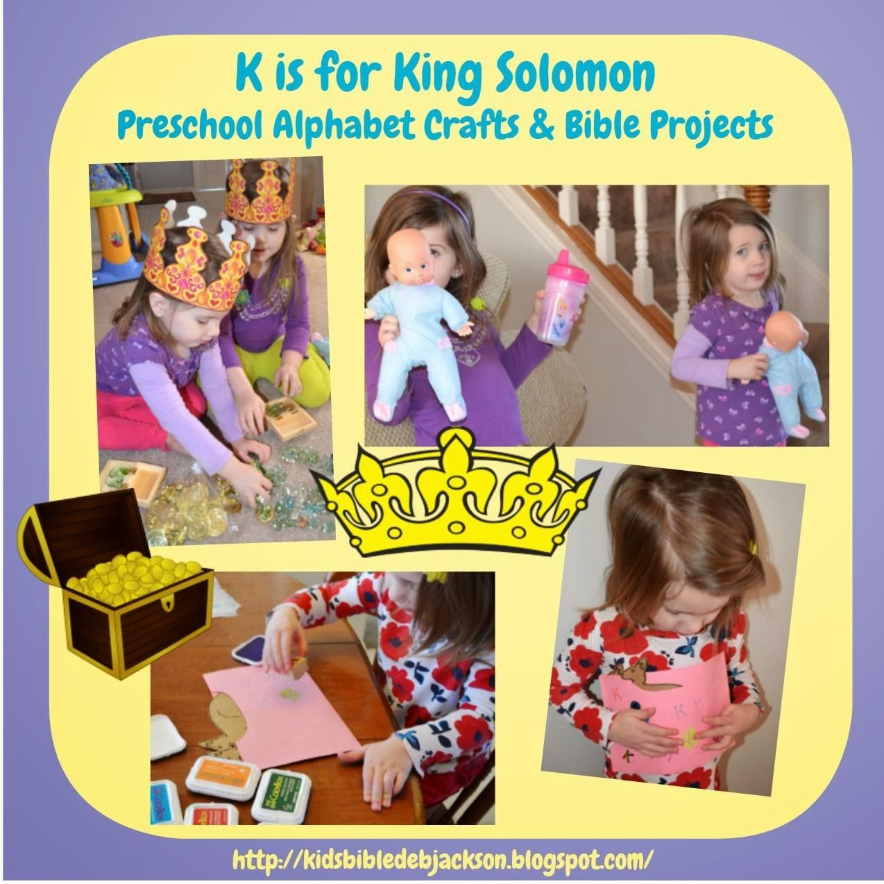 Preschool Alphabet K Is For King Solomon