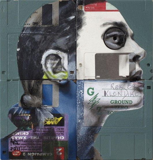 floppy disc art by nick gentry