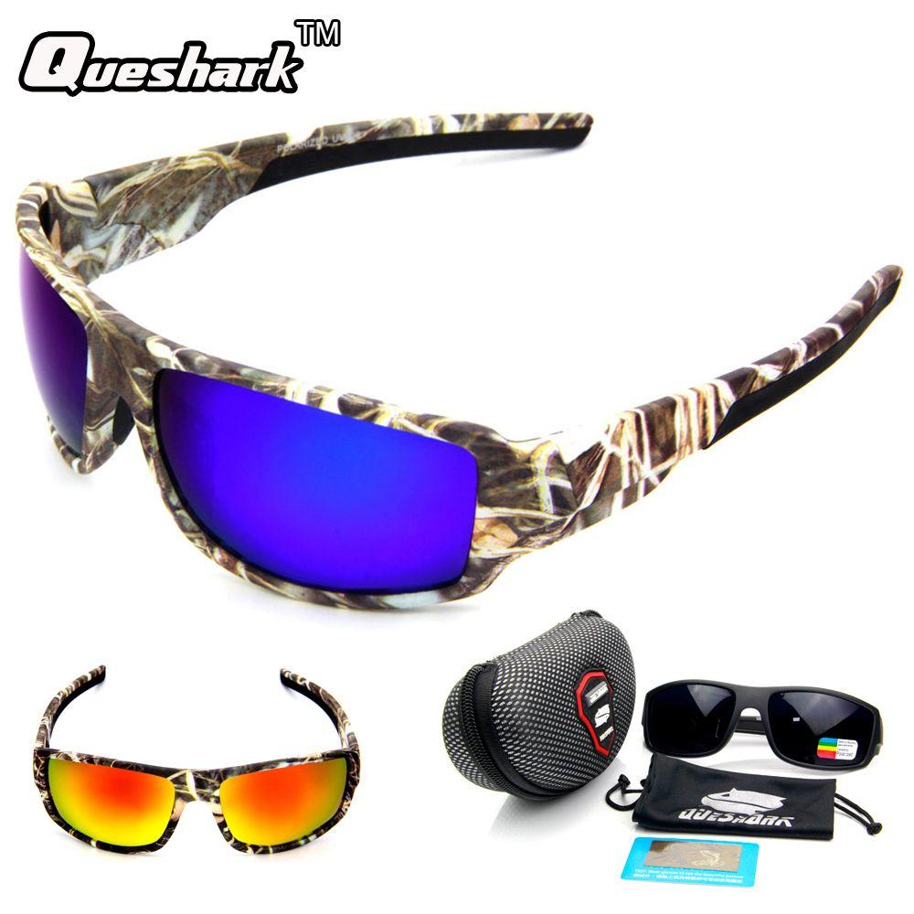 841d2e8a3a QUESHARK Polarized Camo Fishing Sunglasses Outdoor Camping Sports Cycling  Glasses TR90 UV400 Goggles Fishing Eyewear FREE Shipping  carp