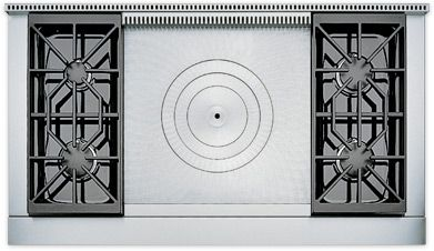 Wolf 48 Stove Top With French Top Option