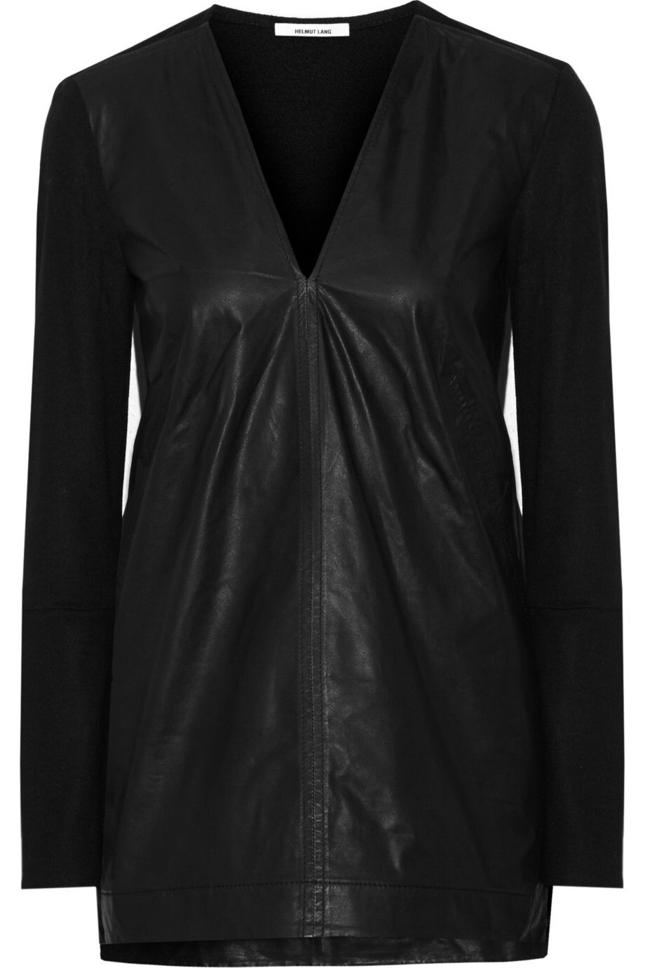 HELMUT LANG Wool-paneled leather top $267.75 http://www.theoutnet.com/products/618448