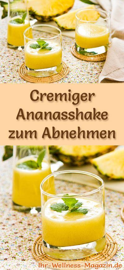 ananasshake zum abnehmen smoothie abnehmshake zum selber machen pinterest. Black Bedroom Furniture Sets. Home Design Ideas