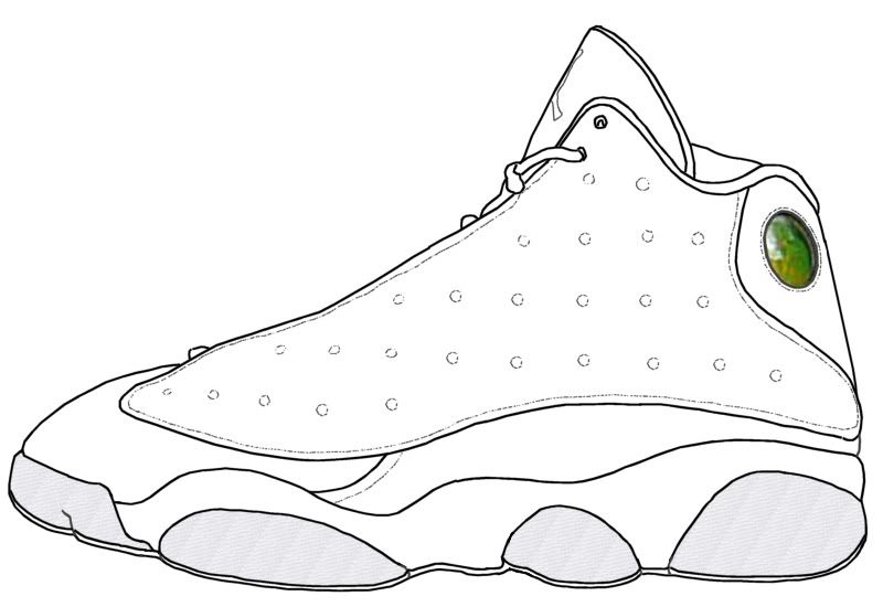 michael jordan shoes coloring pages 13s 768008