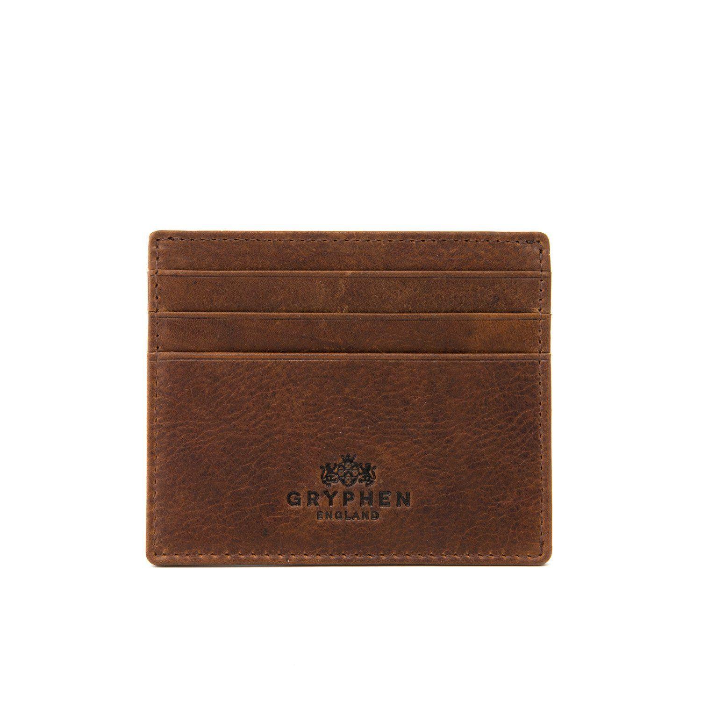 brown leather slim credit card holder wallet by gryphen clothes rh pinterest com best credit card - Best Credit Card Holder