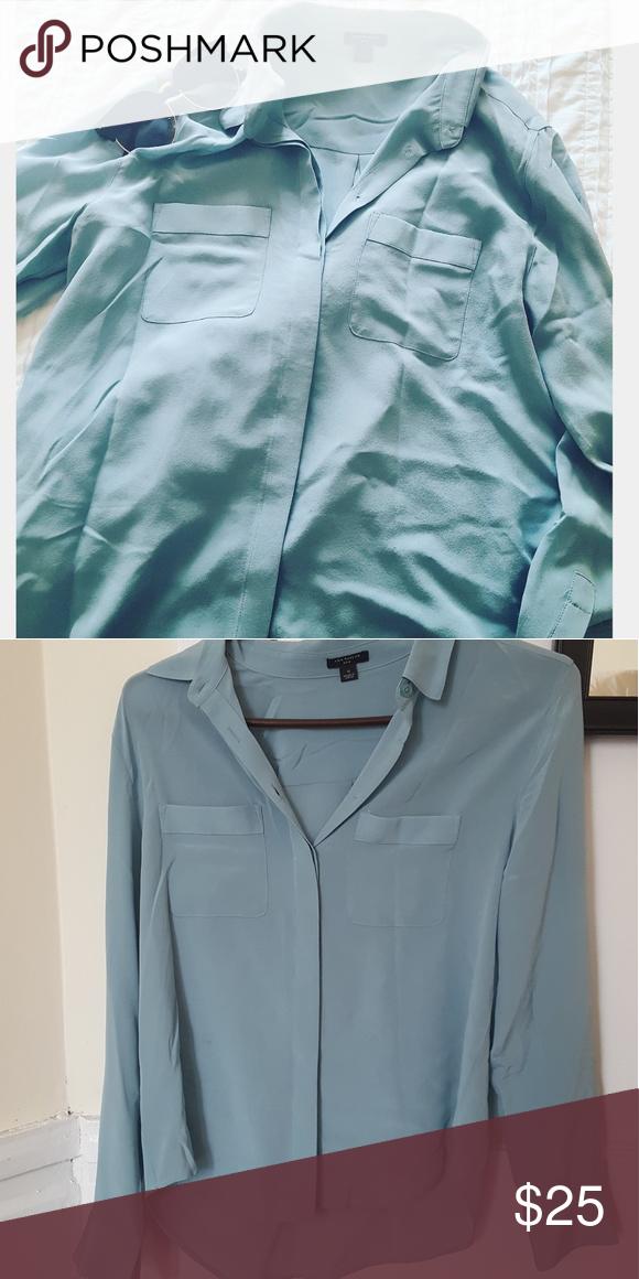 e04c5a4689ff70 Ann Taylor Silk Blouse Pretty robin's egg blue blouse. Reposhing because it  is too short for my torso. 100% silk, never worn. Ann Taylor Tops