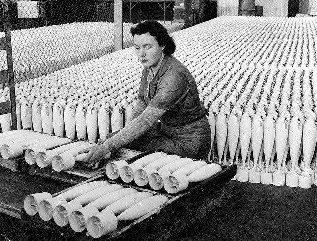 vintage everyday pictures of south australian women working in munitions factory during world war ii
