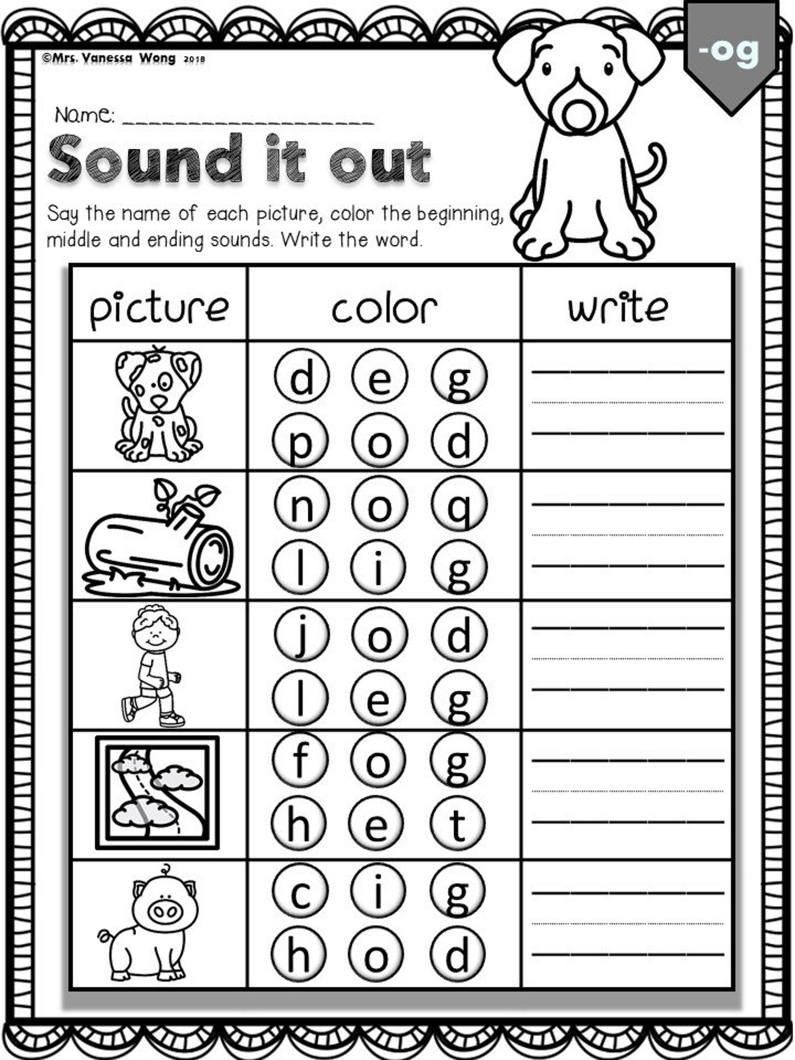Phonics Worksheets Cvc Sound It Out Kindergarten First Grade Distance Learning In 2021 Phonics Worksheets Phonics Cvc Phonics Activities [ 2117 x 1588 Pixel ]