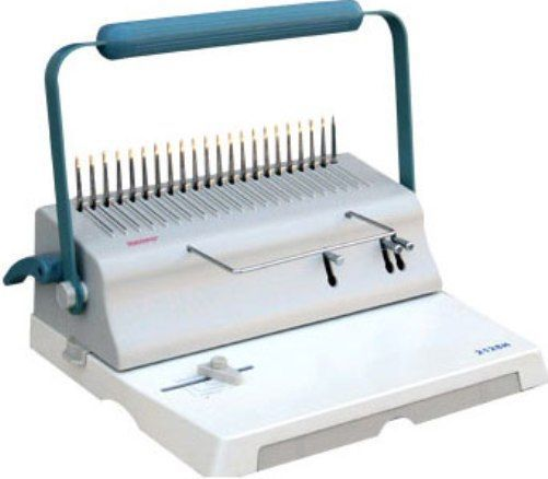 Intelli-Zone BINBEIB300 Intelli-Bind IB300 Manual Comb Binding Machine, Capable of punching up to 20 sheets of paper, Max Page Size A4, A5, B5 (11.7-inches), Adjustable Edge Distance 3/32
