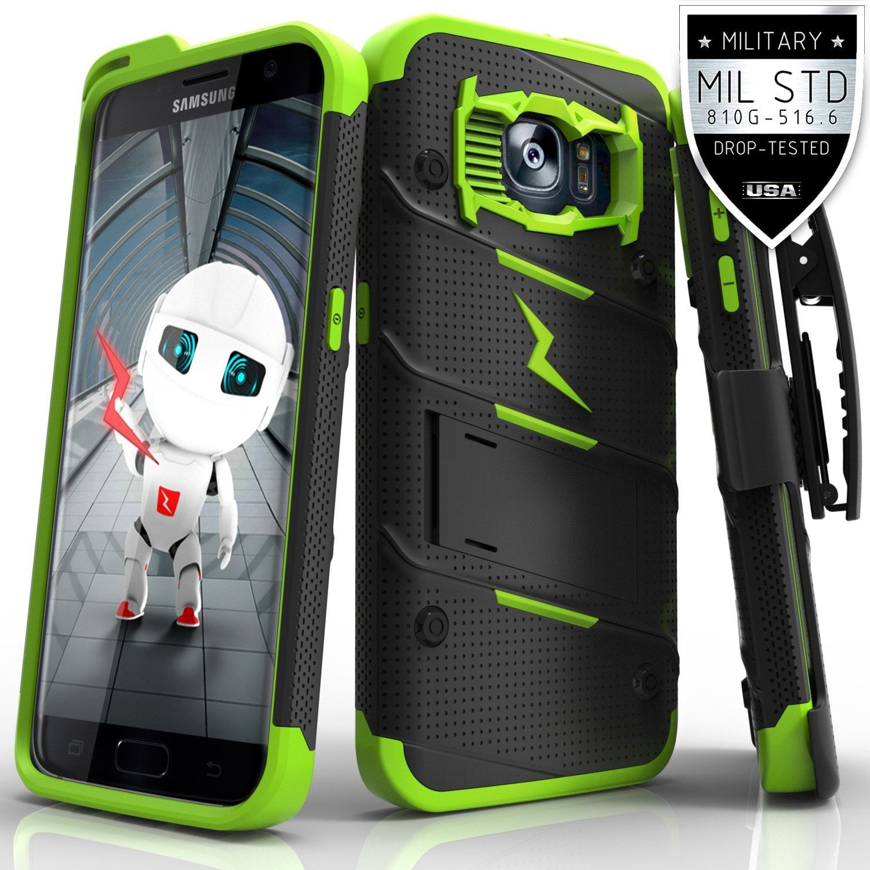 Zizo BOLT Super Defender Samsung Galaxy S7 Edge Case - Black