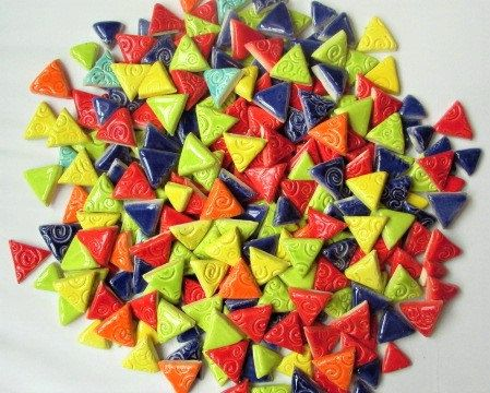 1 Pound Mosaic Tiles Triangles In Variety Of Sizes By Mosaicmonkey