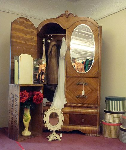 An Armoire Wardrobe In An Antique Store In Putnam, Connecticut