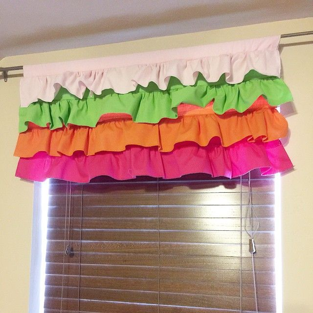 Skittles Inspired Ruffle Curtain Valance On A Vision To