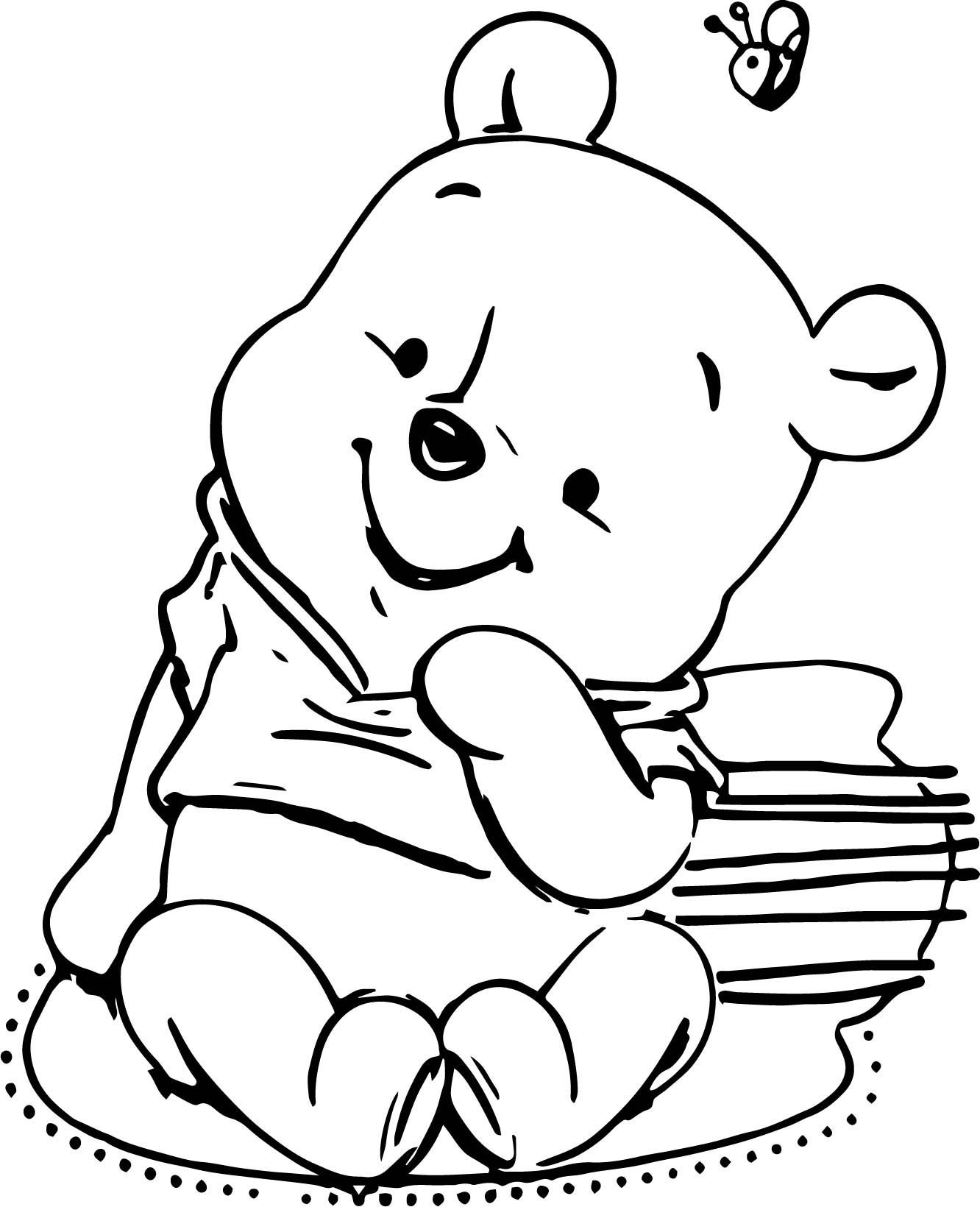 Cool Classic Winnie The Pooh Baby Shower Invitations Templates Coloring Page Bear Coloring Pages Classic Baby Shower Baby Shower Invitation Templates