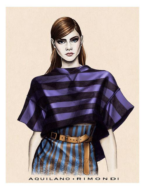 """Aquilano Rimondi SS14""New fashion illustration from the Aquilano Rimondi Spring…"
