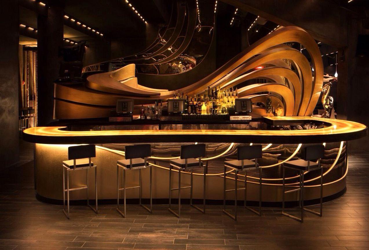 Hyde American Airlines Arena In 2020 Bar Counter Design Bar Design Restaurant Bar Design