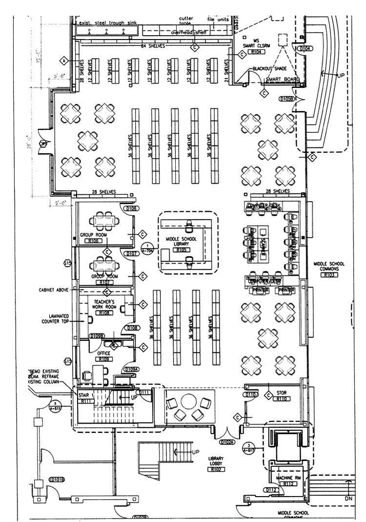 Middle school classroom layout figure 11 utopia middle school middle school classroom layout figure 11 utopia middle school library blueprints malvernweather Choice Image