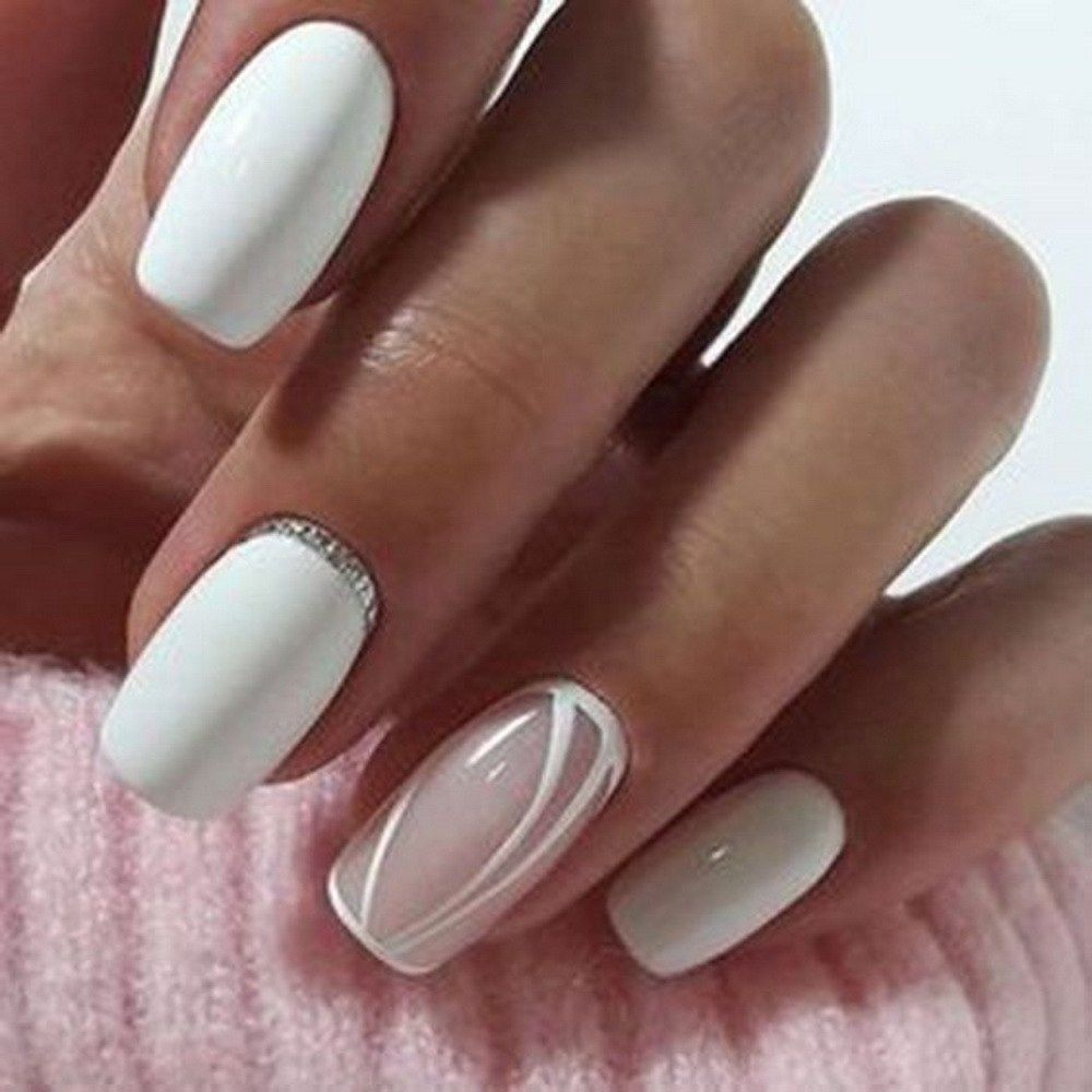 25 Elegant White Nail Art Ideas That You Will Love For Winter En 2020 Manicura De Uñas Decorados Para Uñas Cortas Uñas De Gel Blancas