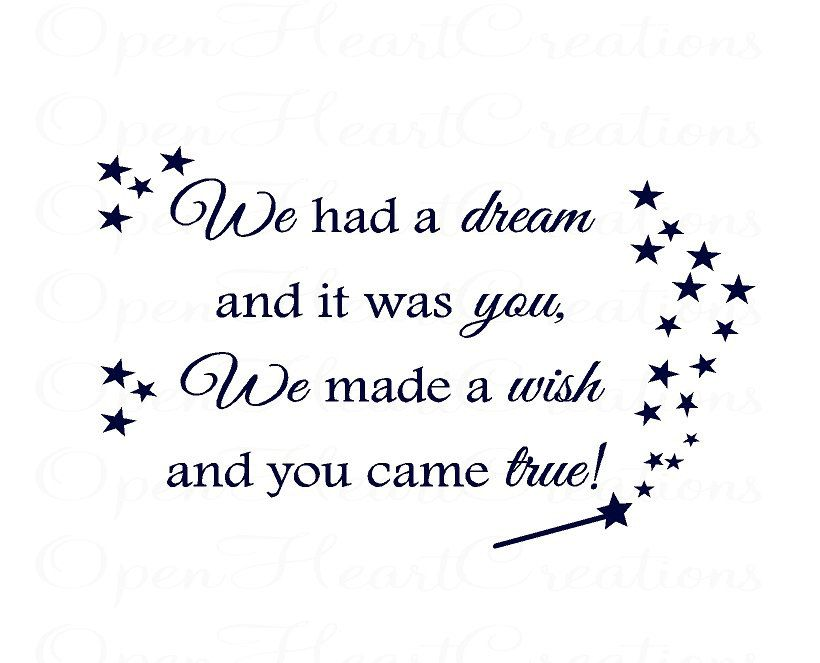 We Made A Wish And It Was You We Made: We Made A Wish And It Was You We Made