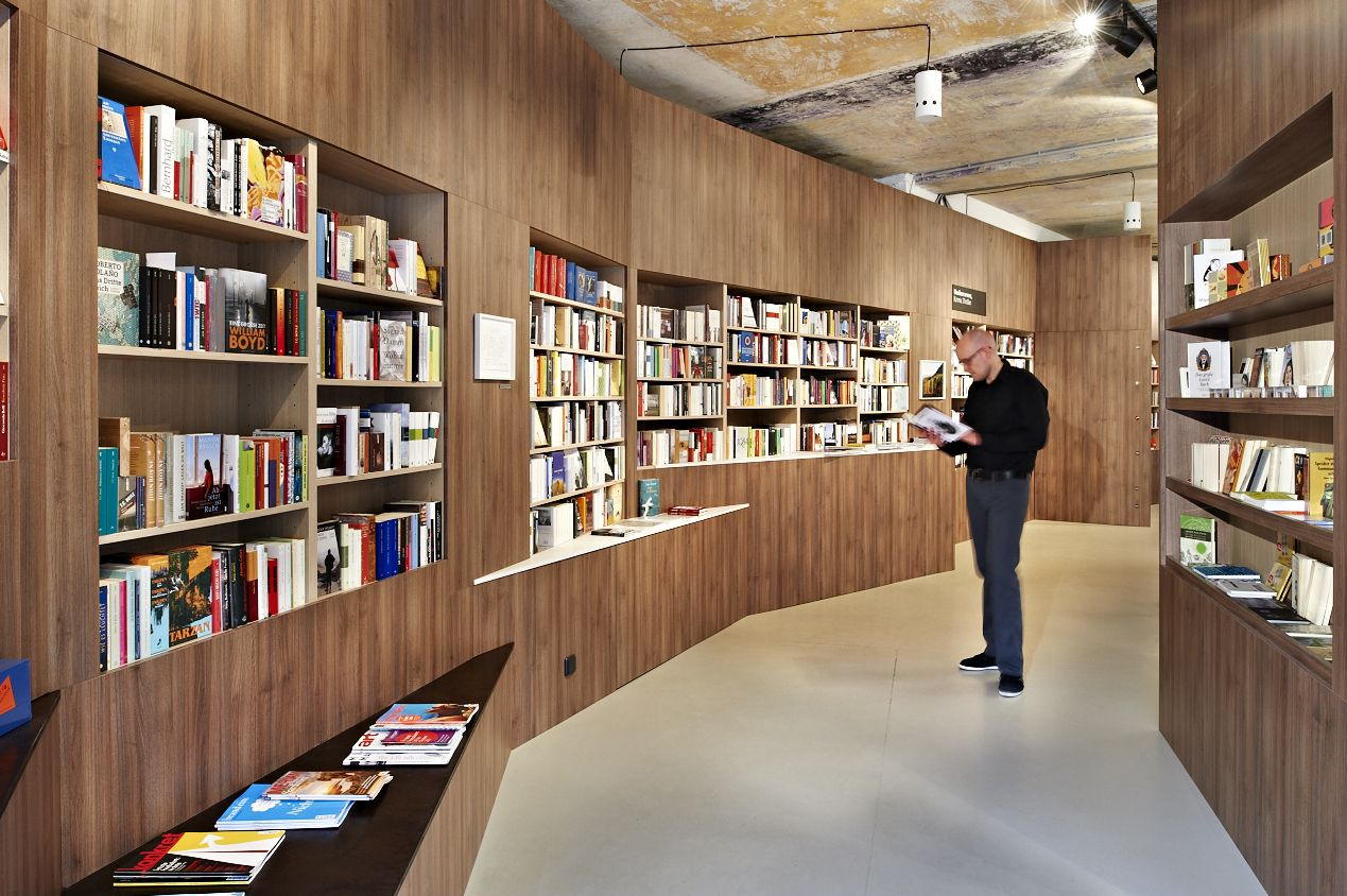 Innovative Custom Bookshelves Bookstore Interior