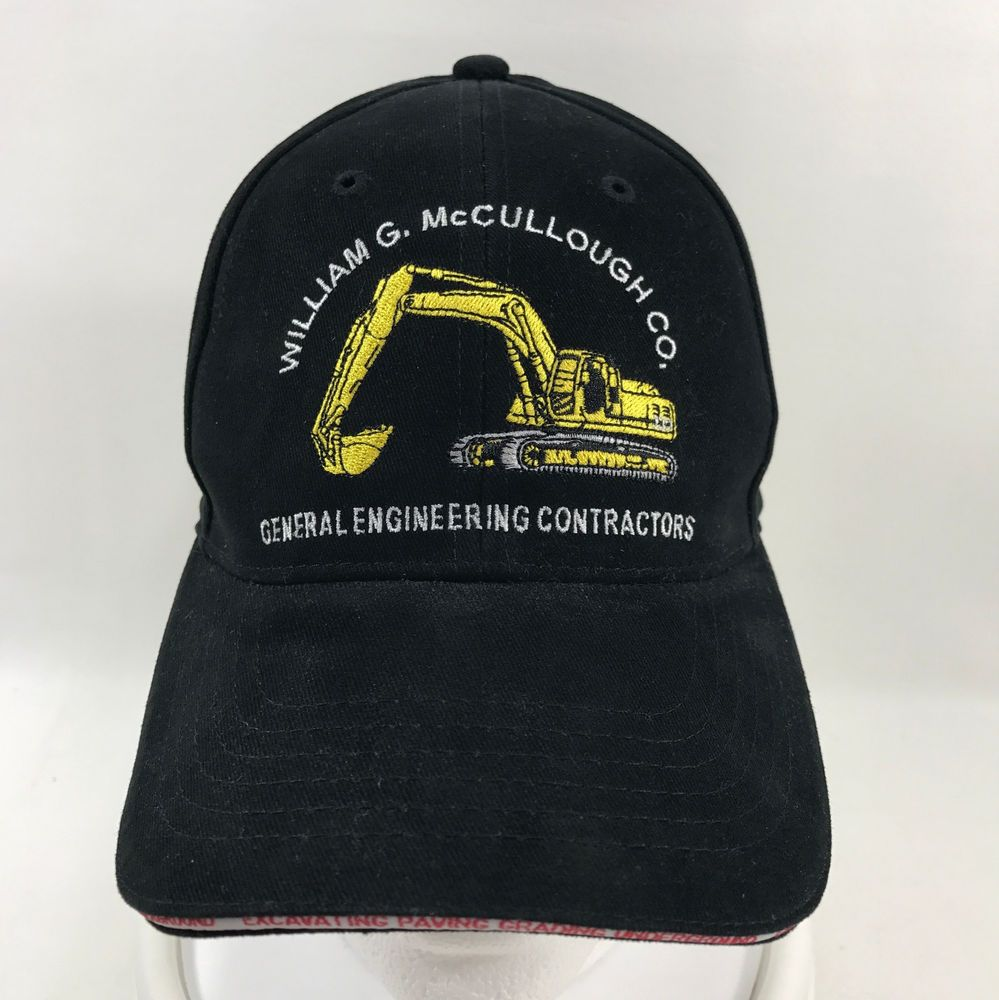 William G Mccullough Co General Engineering Contractors Black Baseball Cap Hat Constructionsafetyvesttees Baseb Black Baseball Cap Hats Unique Items Products