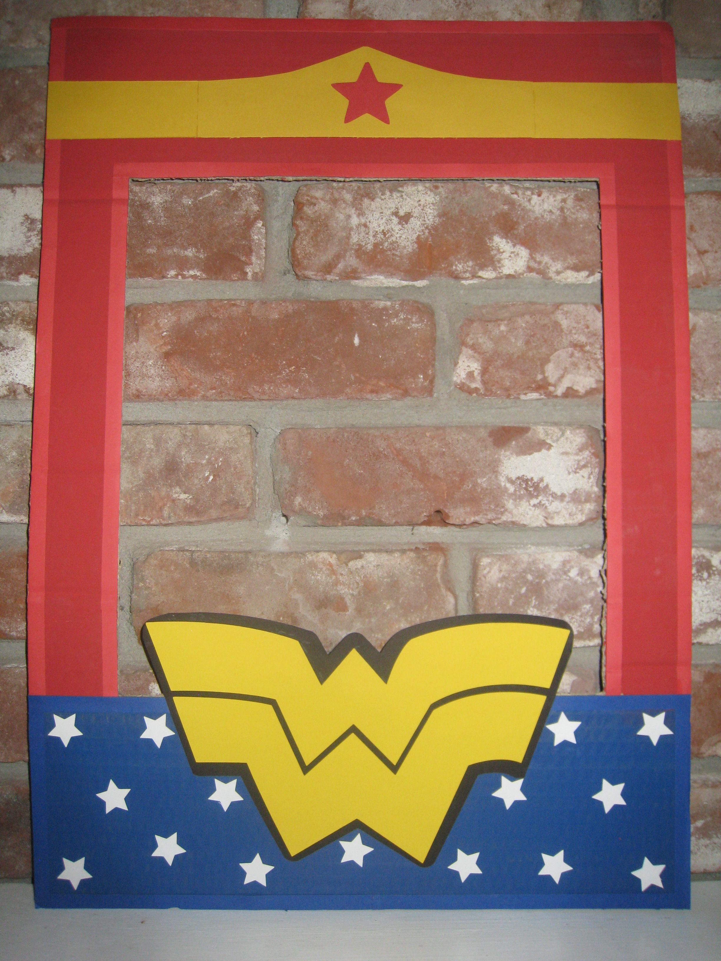 Wonder Woman Superhero Cardboard Frame.....Cardboard painted with ...