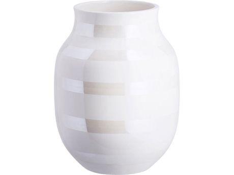 Kähler   Vase Hvid, Perlemor 20 cm