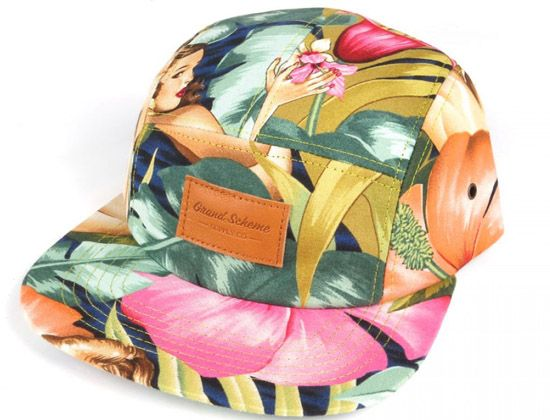 Birds Of Paradise 5 Panel Hat By GRAND SCHEME X HALFSLEEVE