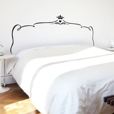 Best Give Your Bedroom A Quick And Easy Makeover With This Romantic Bed Headboard Wall Sticker 640 x 480